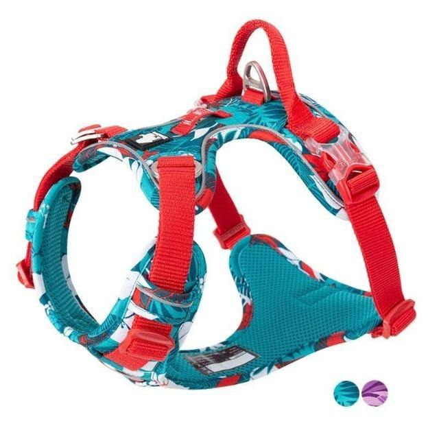 Dog Vest Nylon Reflective Soft Inner Harness - The Pet Talk