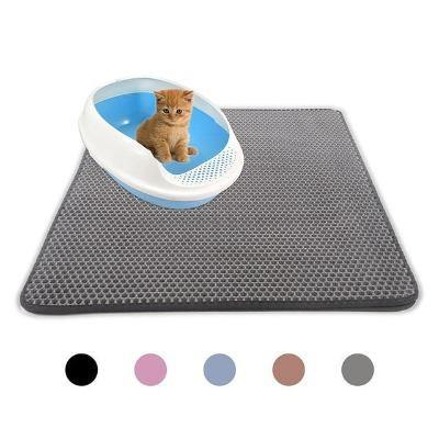 Pet Cat Bowl Mat Double Layer Waterproof Non-slip Mat - The Pet Talk