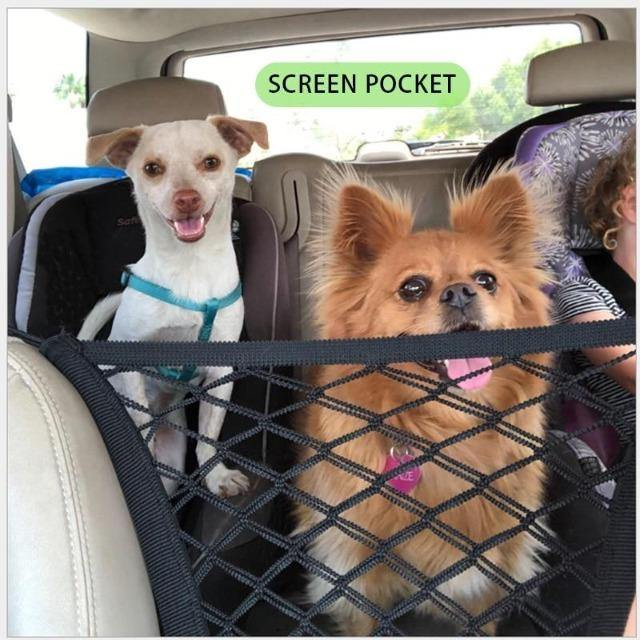 Elastic Car Pet Barrier Mesh Safety in Travelling - The Pet Talk