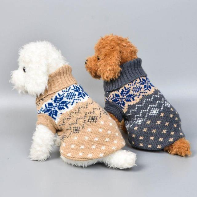 Winter Soft Knitting Pet Coat Clothes - The Pet Talk