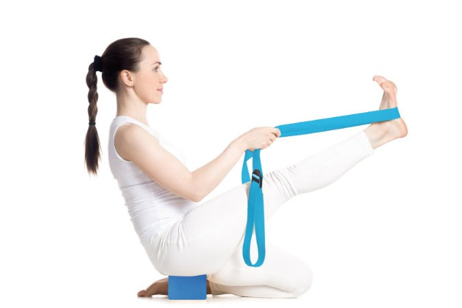 Sangle de yoga bleue vrac - Sveltus