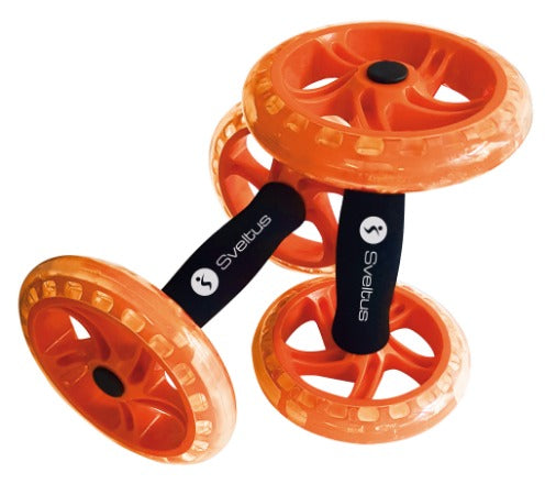 Double AB Wheel Roller Orange x2 - Sveltus