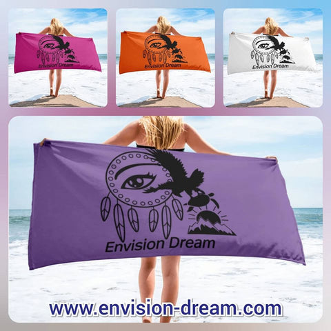 Envision Dream Beach Towel