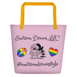 Envision Dream Catch All Pride Pink Tote Bag
