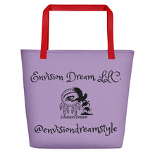 Load image into Gallery viewer, Envision Dream Catch All Purple Tote Bag