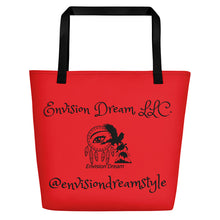 Load image into Gallery viewer, Envision Dream Catch All Red Tote Bag