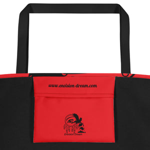 Envision Dream Catch All Red Tote Bag