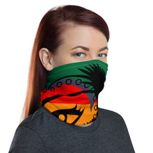 Load image into Gallery viewer, Envision Dream Rainbow Green Versatile Head Wrap and Neck Warmer