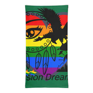 Envision Dream Rainbow Green Versatile Head Wrap and Neck Warmer