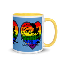 Load image into Gallery viewer, Envision Dream Sip & Think Rainbow Blue Mug with Color Trim
