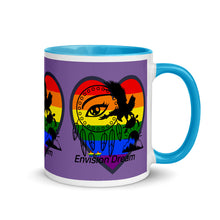 Load image into Gallery viewer, Envision Dream Sip & Think Rainbow Purple Mug
