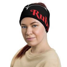 Load image into Gallery viewer, Trapped Ruby Head Wrap and Neck Warmer