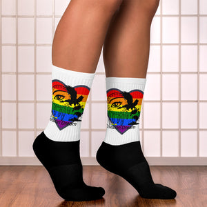 Envision Dream Rainbow Heart Socks