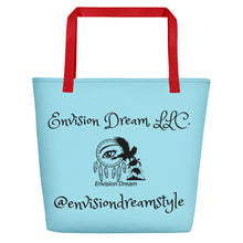 Load image into Gallery viewer, Envision Dream Catch All Light Blue Tote Bag