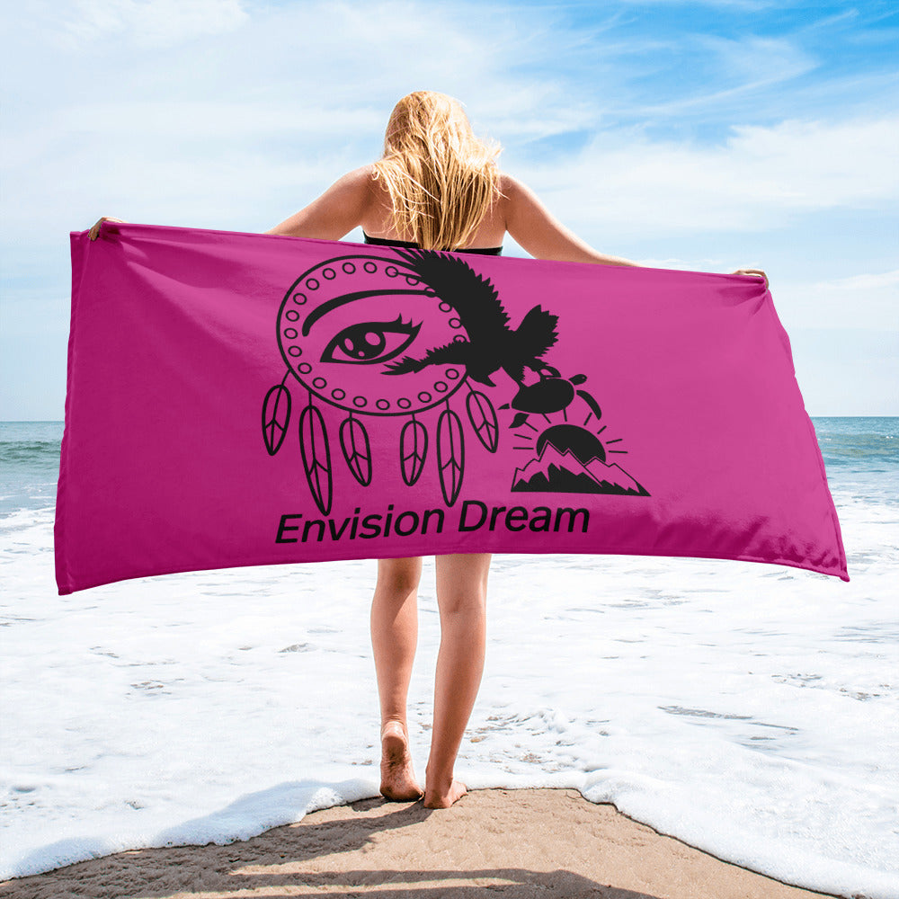 Envision Dream Beach Towel Pink