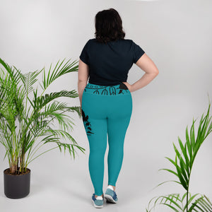 Envision Dream Color Vision Turquoise Big and Beautiful Yoga Leggings