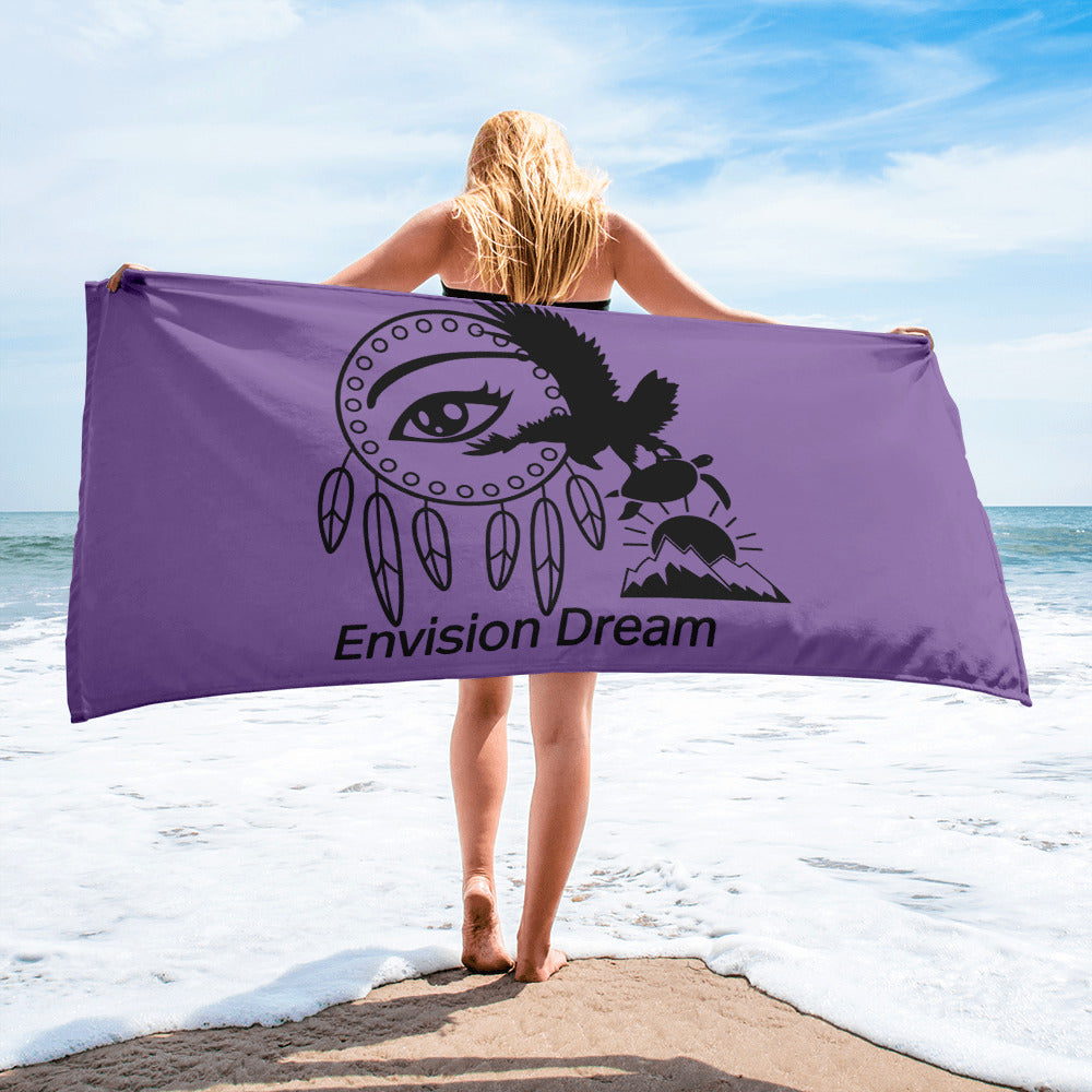 Envision Dream Beach Towel Purple