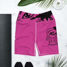 Load image into Gallery viewer, Envision Dream Pink Yoga Shorts