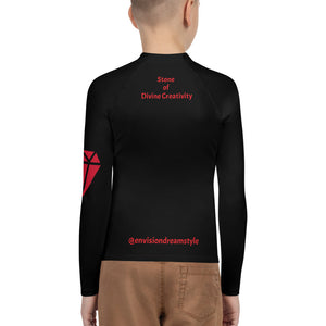 Trapped Ruby Youth Rash Guard