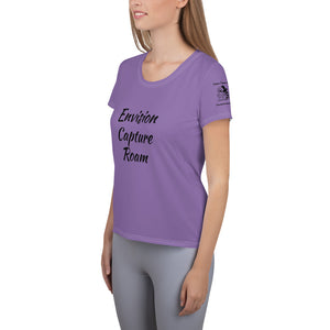 Envision, Capture, Roam Woman's Athletic Shirt Purple