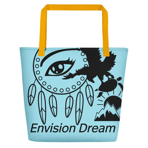 Envision Dream Catch All Light Blue Tote Bag