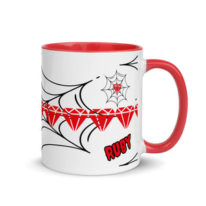 Trapped Ruby Sip & Think Ceramic Coffee and Tea Mug