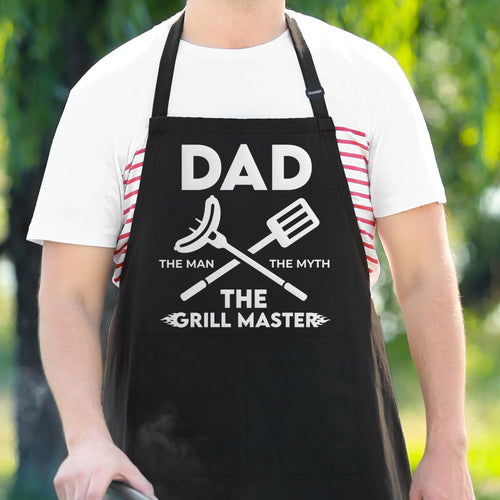Dad The Man The Myth The Grill Master - Funny Dad Apron