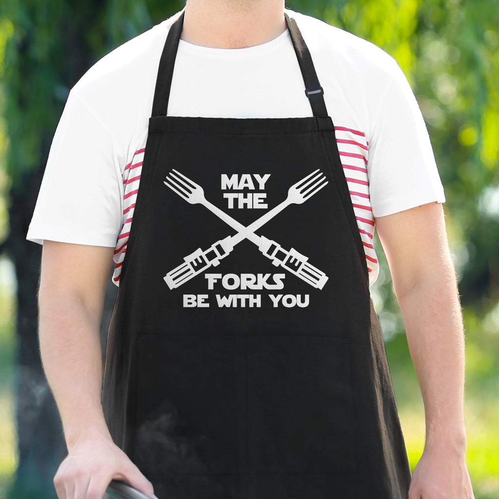 May The Forks Be With You - Star Wars Joke Apron