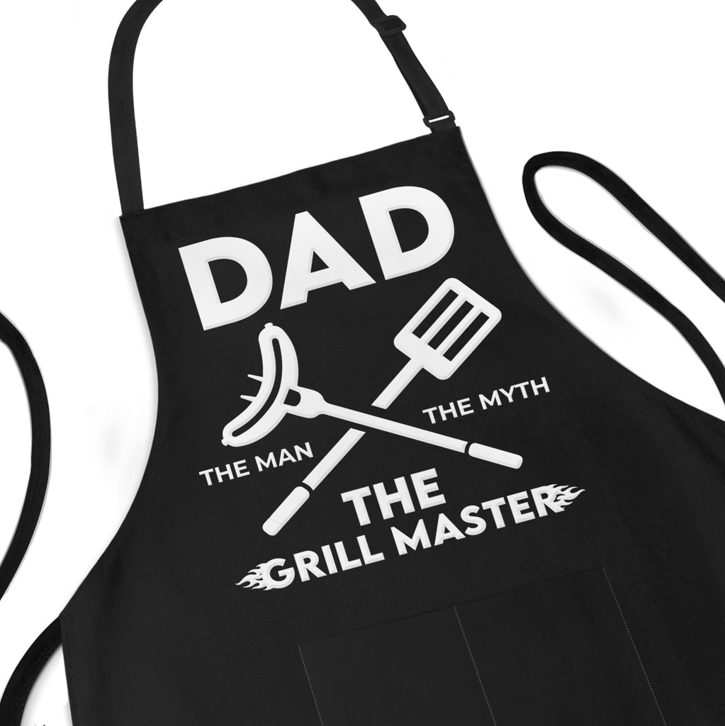 Apron For dad the man the myth the grill master