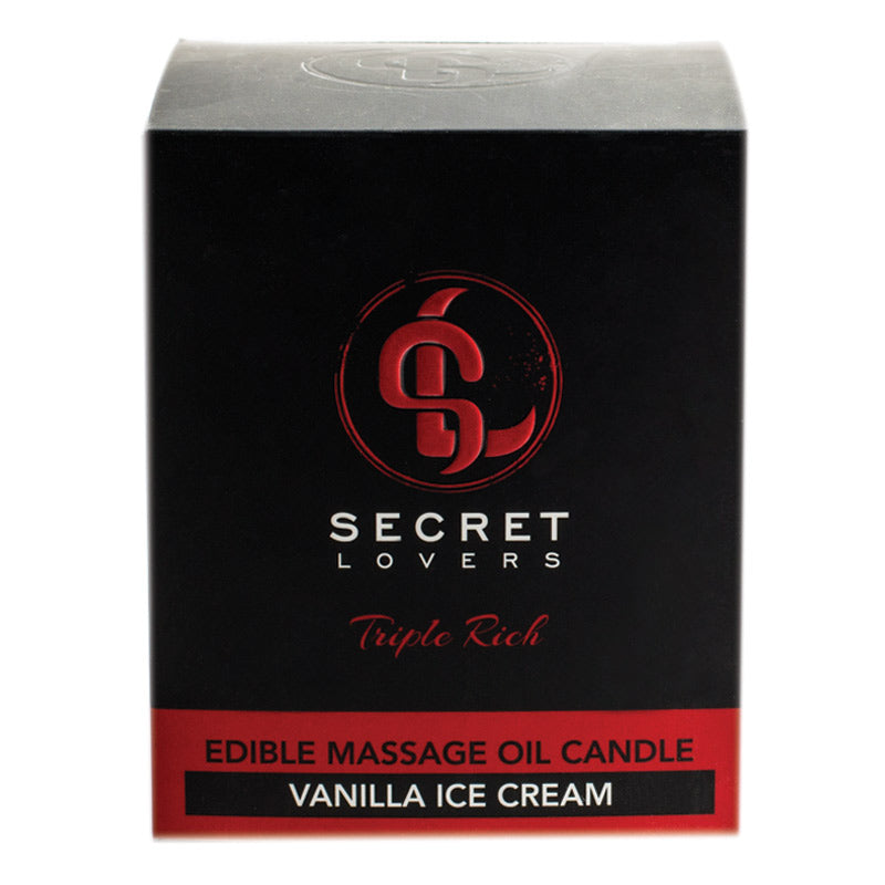 Secret Lovers Triple Rich Edible Massage Candles