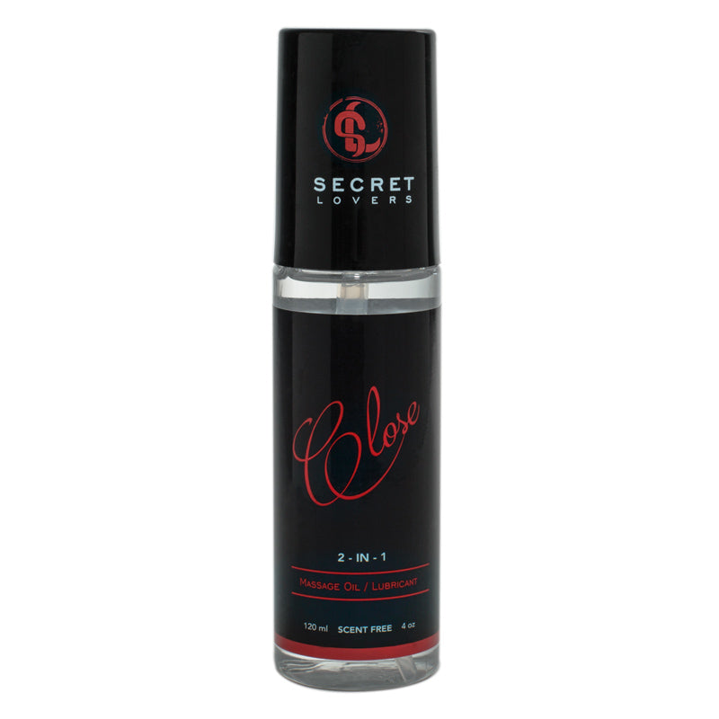 Secret Lovers Close 2-in-1 Massage Oil and Lubricant