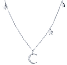 Load image into Gallery viewer, Star Moon Necklace