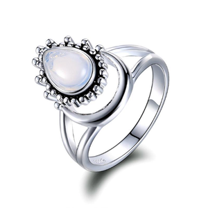 Moonstone Water Drop Ring