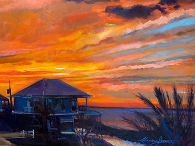"""Easter Sunset"" 36x48 original oil in canvas"
