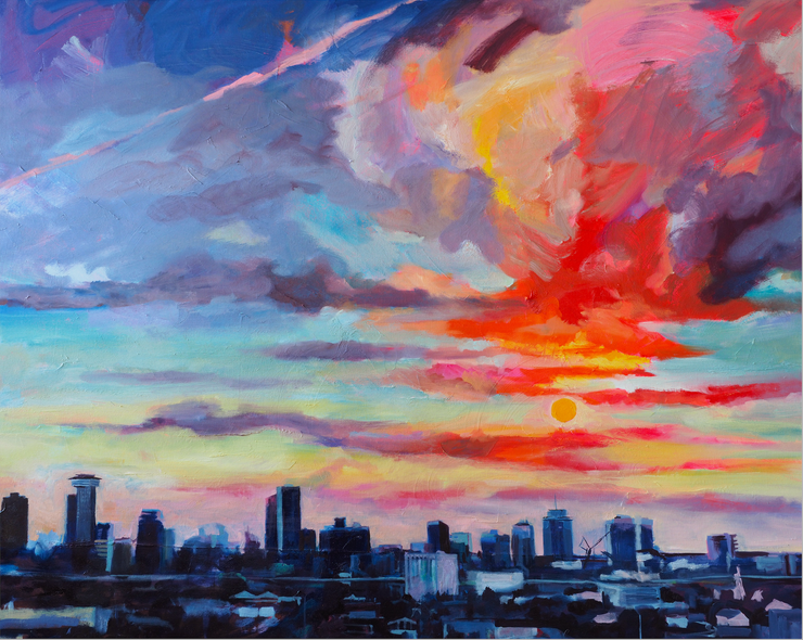 """New Orleans Skyline"" 16x20 canvas print"