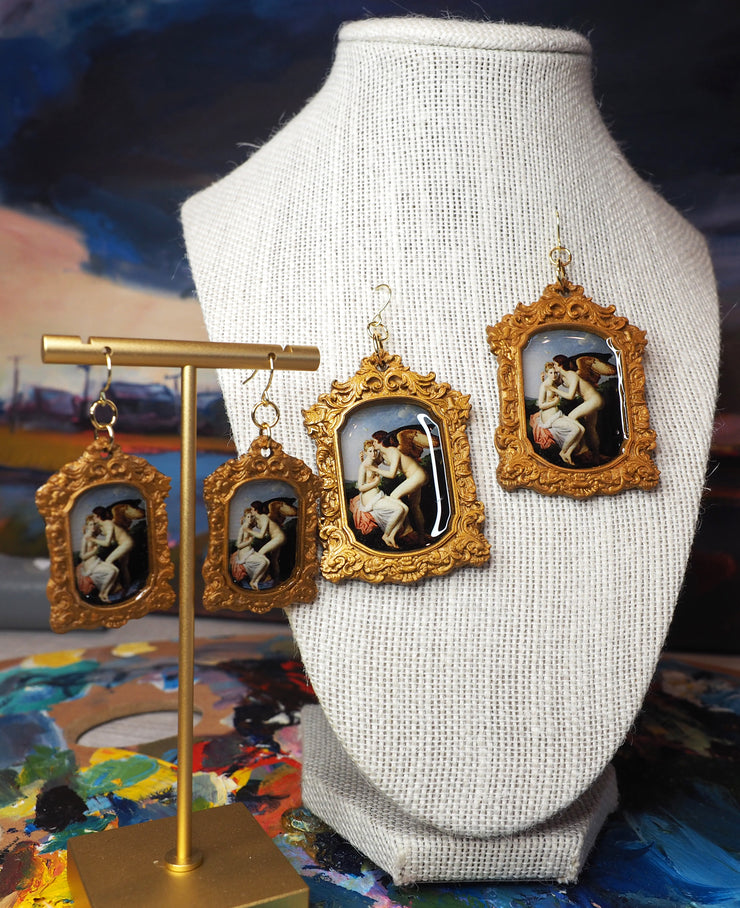 Cupid and Psyche by François Gérard earrings