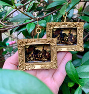 """The Raft of the Medusa"" Theodore Gericault- a painting about the painful truths of humanity now available as earrings"