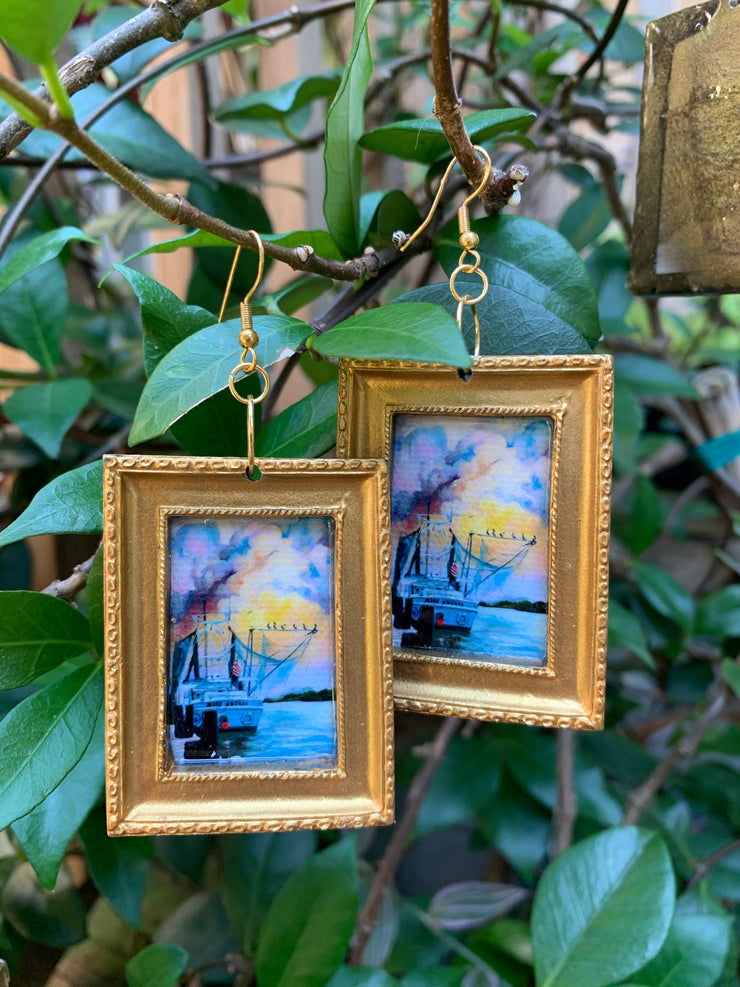 """Miss Andrea"" Lemoine Art earrings"