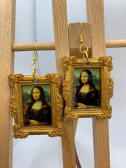 The Mona Lisa by Davinci earrings