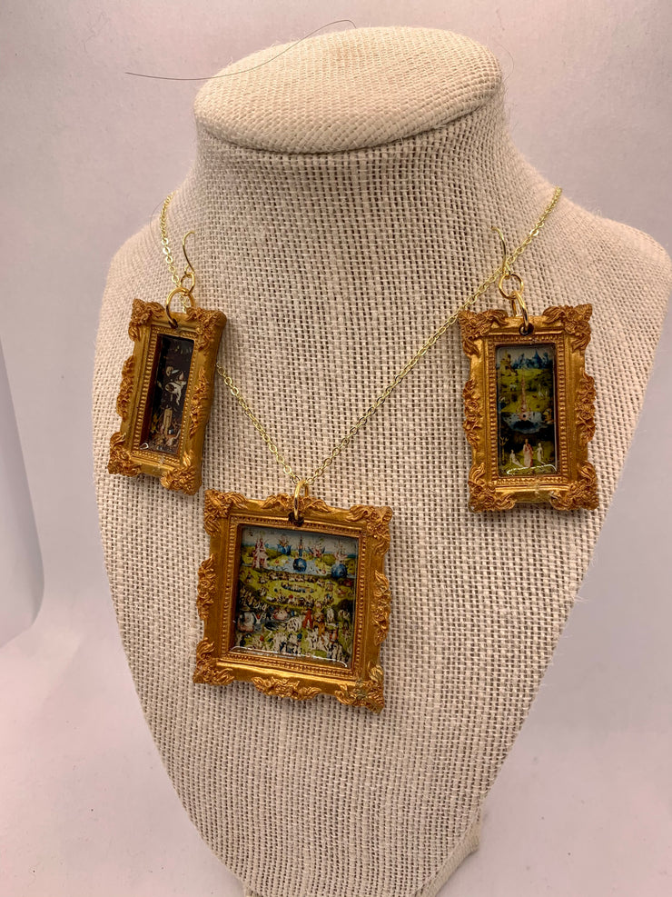 BOSCH Garden of Earthly Delights Necklace and earring set
