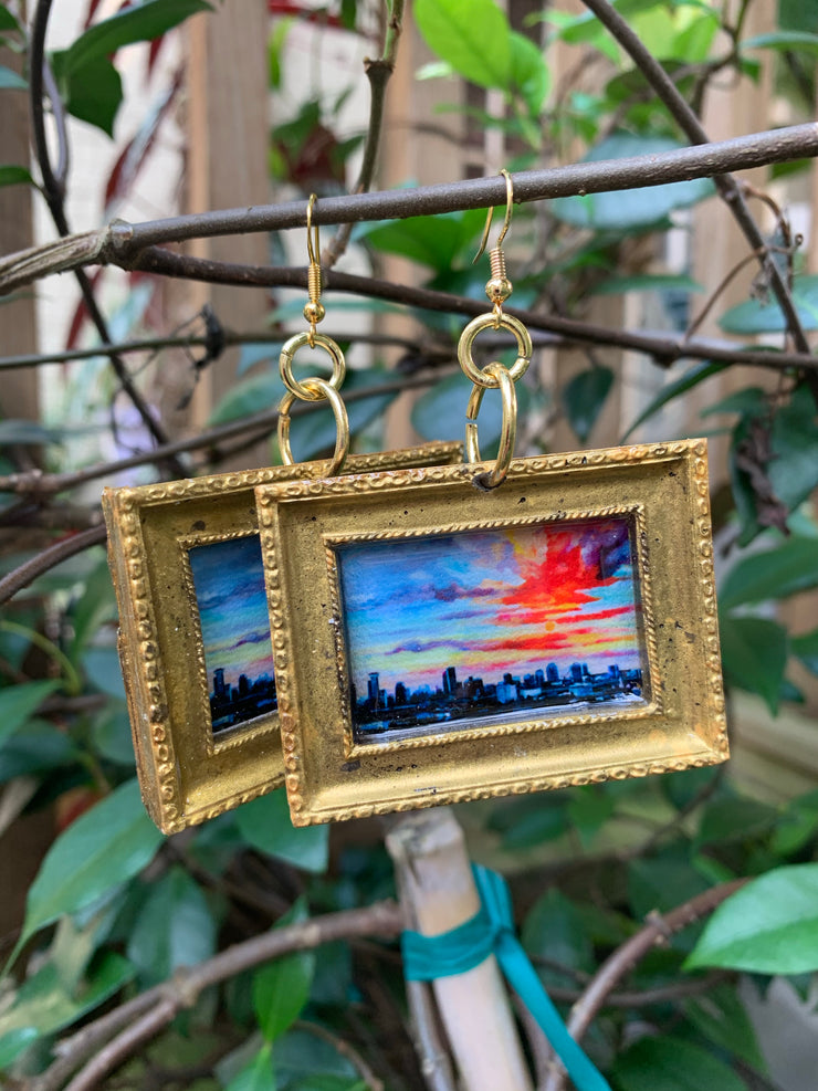 """NOLA Sunset"" Lemoine original earrings"