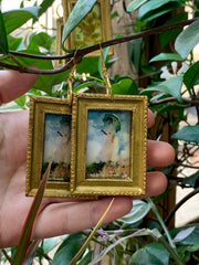 """Parasol"" Claude Monet 1875 impressionist earrings"