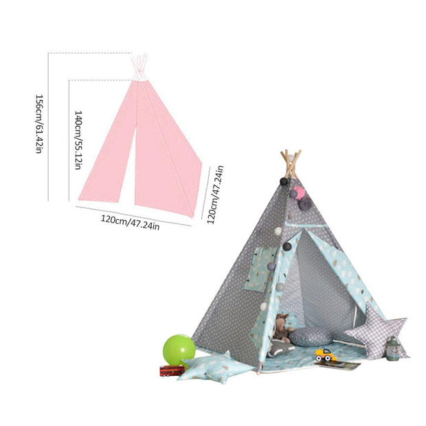 tipi enfant petit point blanc