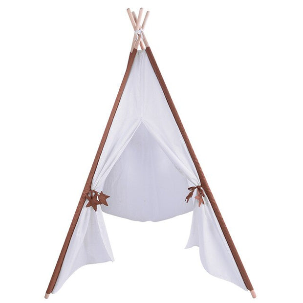 tipi enfant blanc/marron