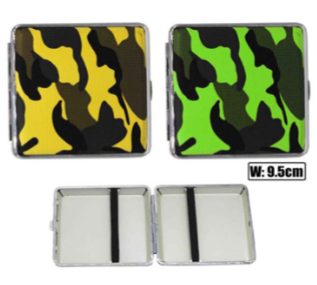 Camouflage Designs Cigarette Hard Case Tobacco Storage - Best Bongs And More