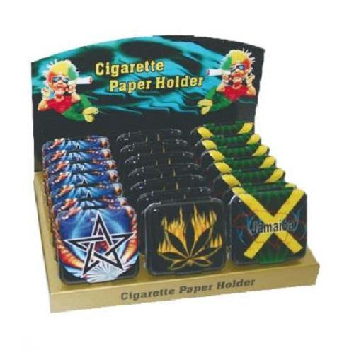 Rolling Paper Case Metal Stash Tin - Best Bongs And More
