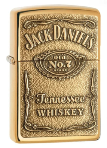 Genuine Zippo Jack Daniels Windproof Refillable Lighter (Gold or Chrome) - Best Bongs And More
