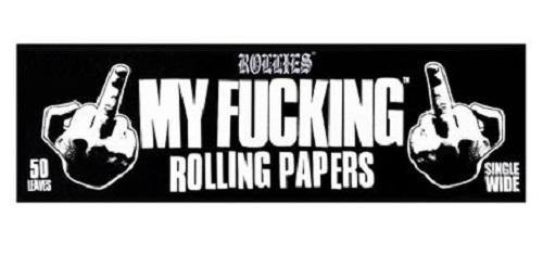 Rollies My Fucking Rolling Papers Single Wide & King Size - Best Bongs And More