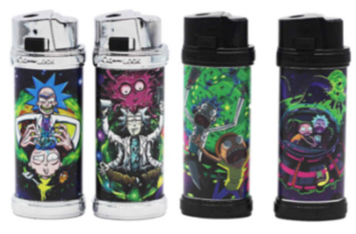 Rick And Morty Design Refillable Jet Lighters - Best Bongs And More