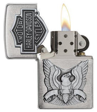 Load image into Gallery viewer, Genuine Zippo Harley Davidson Classic Eagle Windproof Refillable Lighter - Best Bongs And More